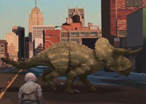 Astronaut Dinosaurier